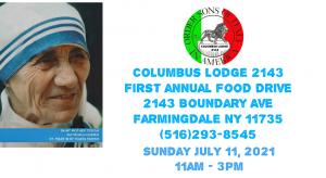 First Annual Food Drive @ Columbus Lodge #2143